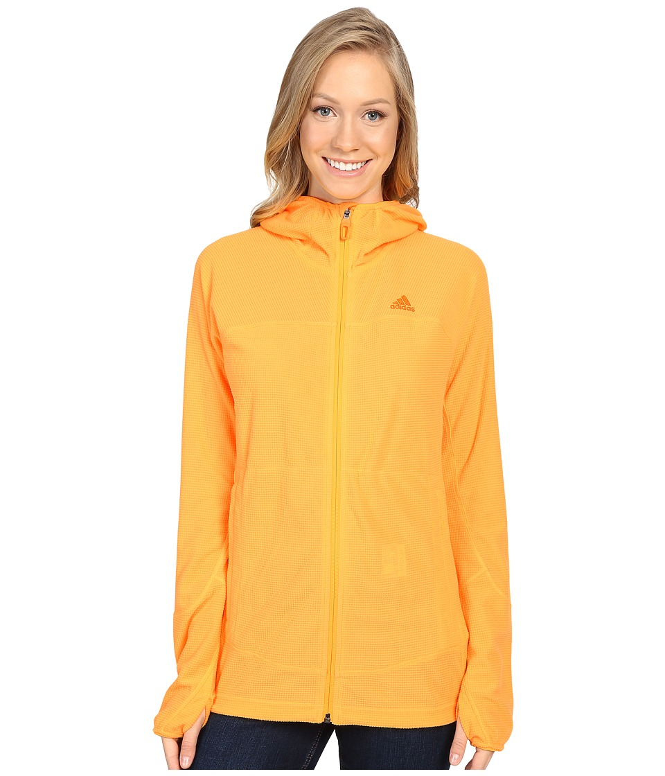 adidas Outdoor - TS Cocona Fleece Hoodie (Solar Gold) Women's Coat