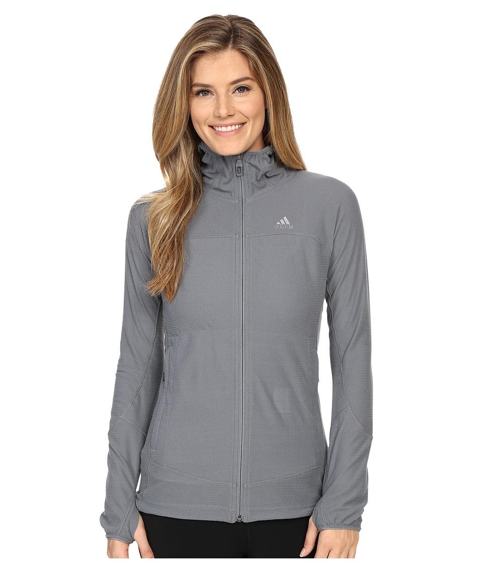 adidas Outdoor - TS Cocona Fleece Hoodie (Vista Grey) Women's Coat