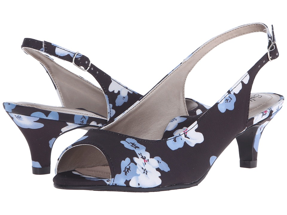 Soft Style - Analee (Plum Blossom Grosgrain) Women's 1-2 inch heel Shoes