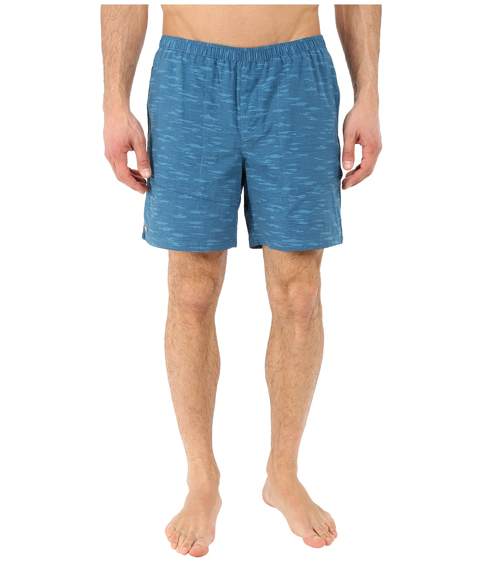 Mountain Hardwear - Class IV Printed Shorts (Bluesteel) Men's Shorts