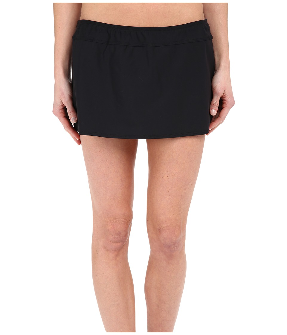 Athena - Cabana Solids A-Line Skirt (Black) Women's Swimwear