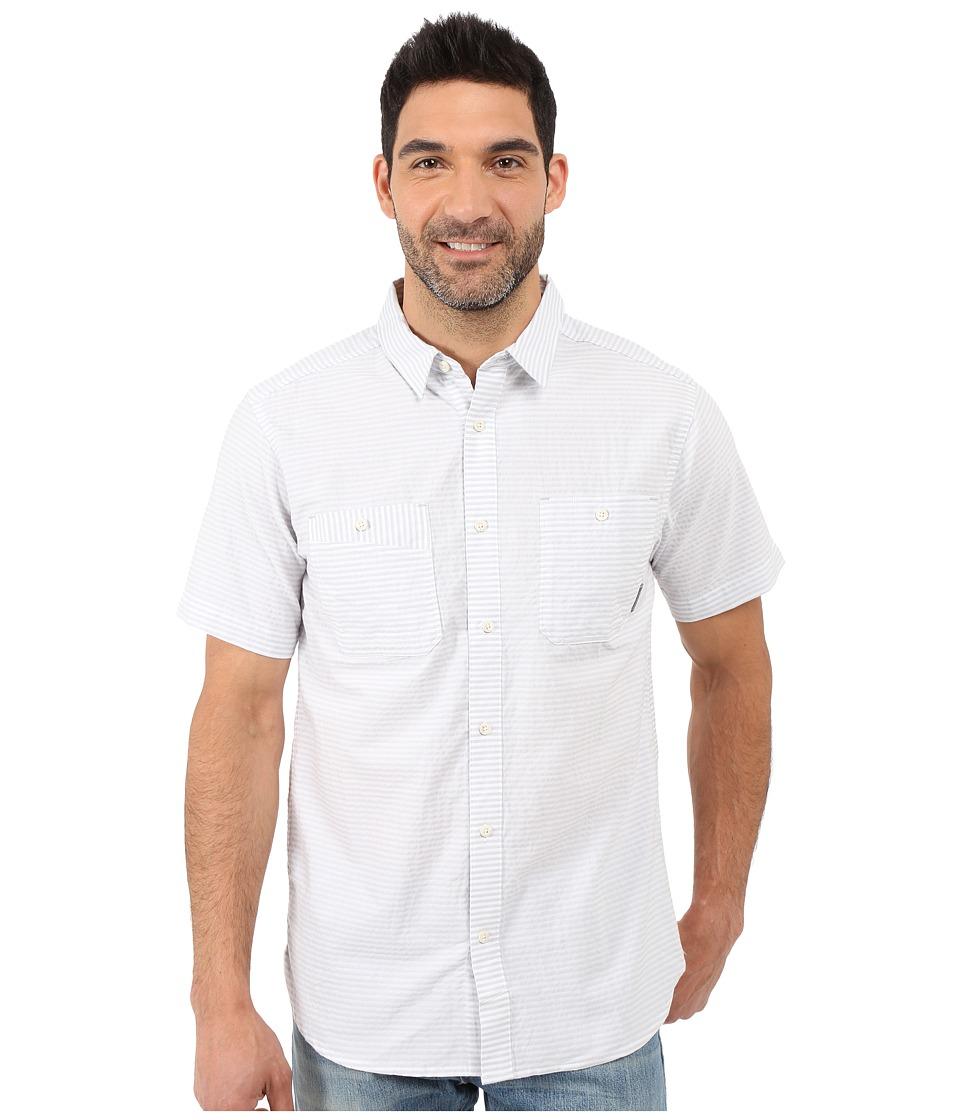 Mountain Hardwear - Sadler S/S Shirt (Grey Ice) Men's Short Sleeve Button Up