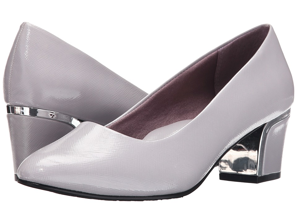 Soft Style - Deanna (Evening Haze Cross Hatch Patent/Silver) Women's 1-2 inch heel Shoes