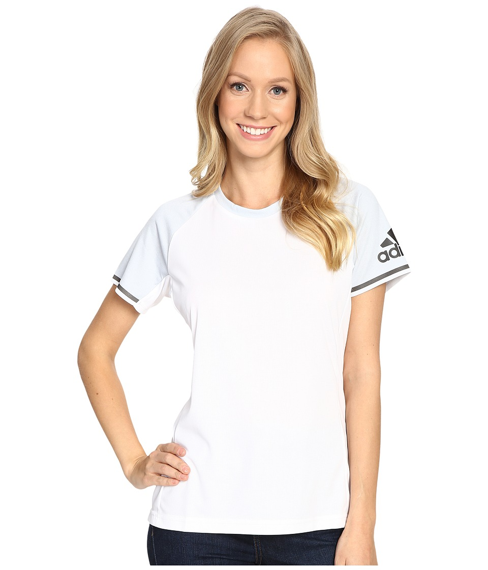 adidas Outdoor - All Outdoor Climachill Fast Crew (White/Chill White) Women's Short Sleeve Pullover