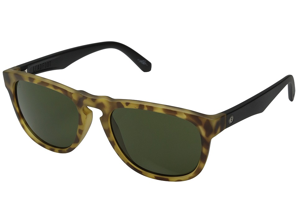 Electric Eyewear - Leadfoot (Matte Spotted Tort/Melanin Grey) Fashion Sunglasses
