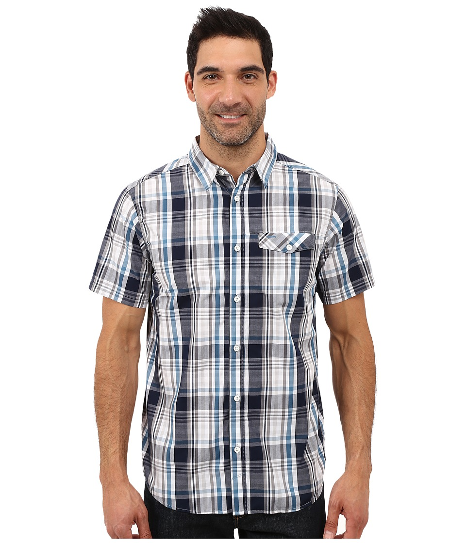 Mountain Hardwear - Farthing S/S Shirt (Hardwear Navy) Men's Short Sleeve Button Up