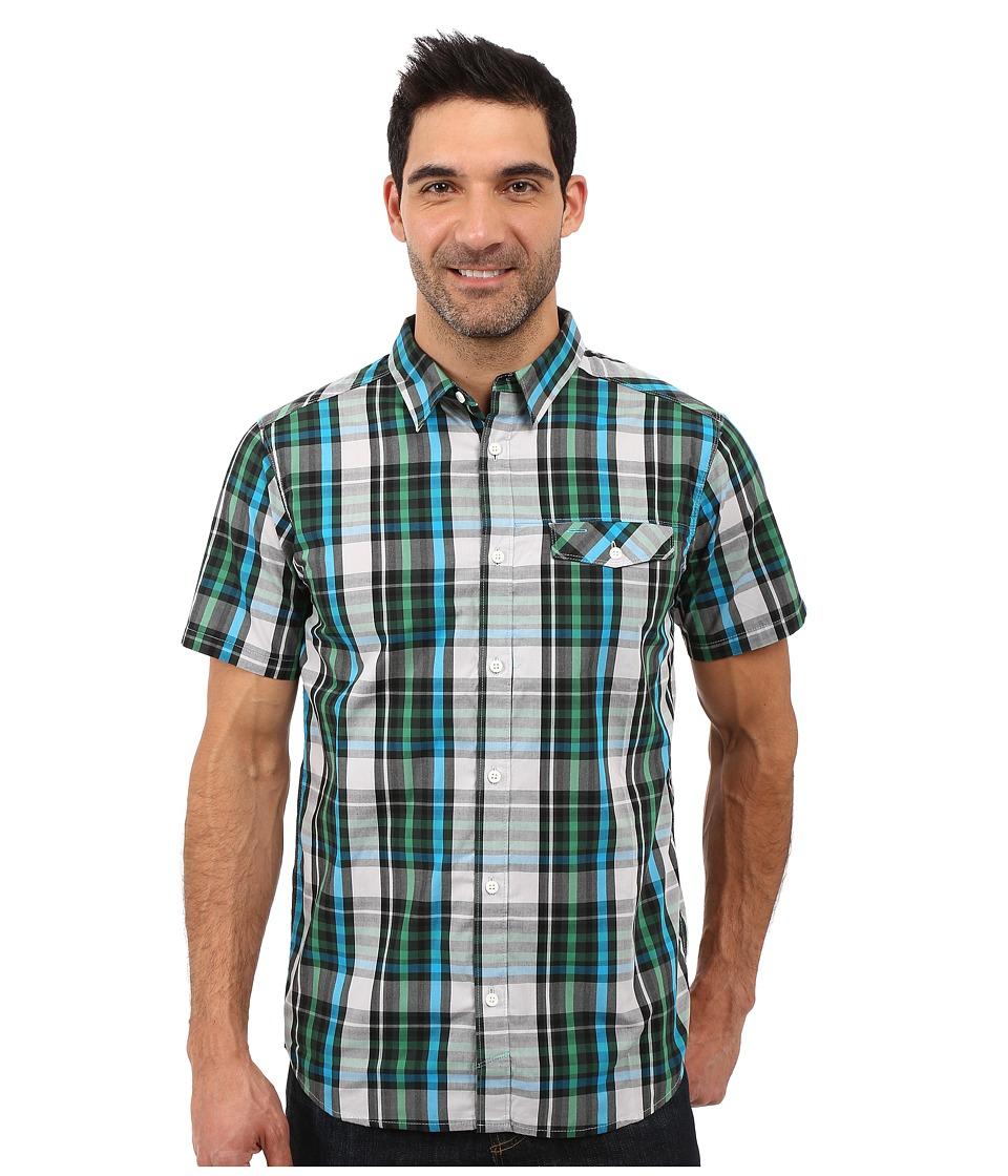 Mountain Hardwear - Farthing S/S Shirt (Dark Forest) Men's Short Sleeve Button Up
