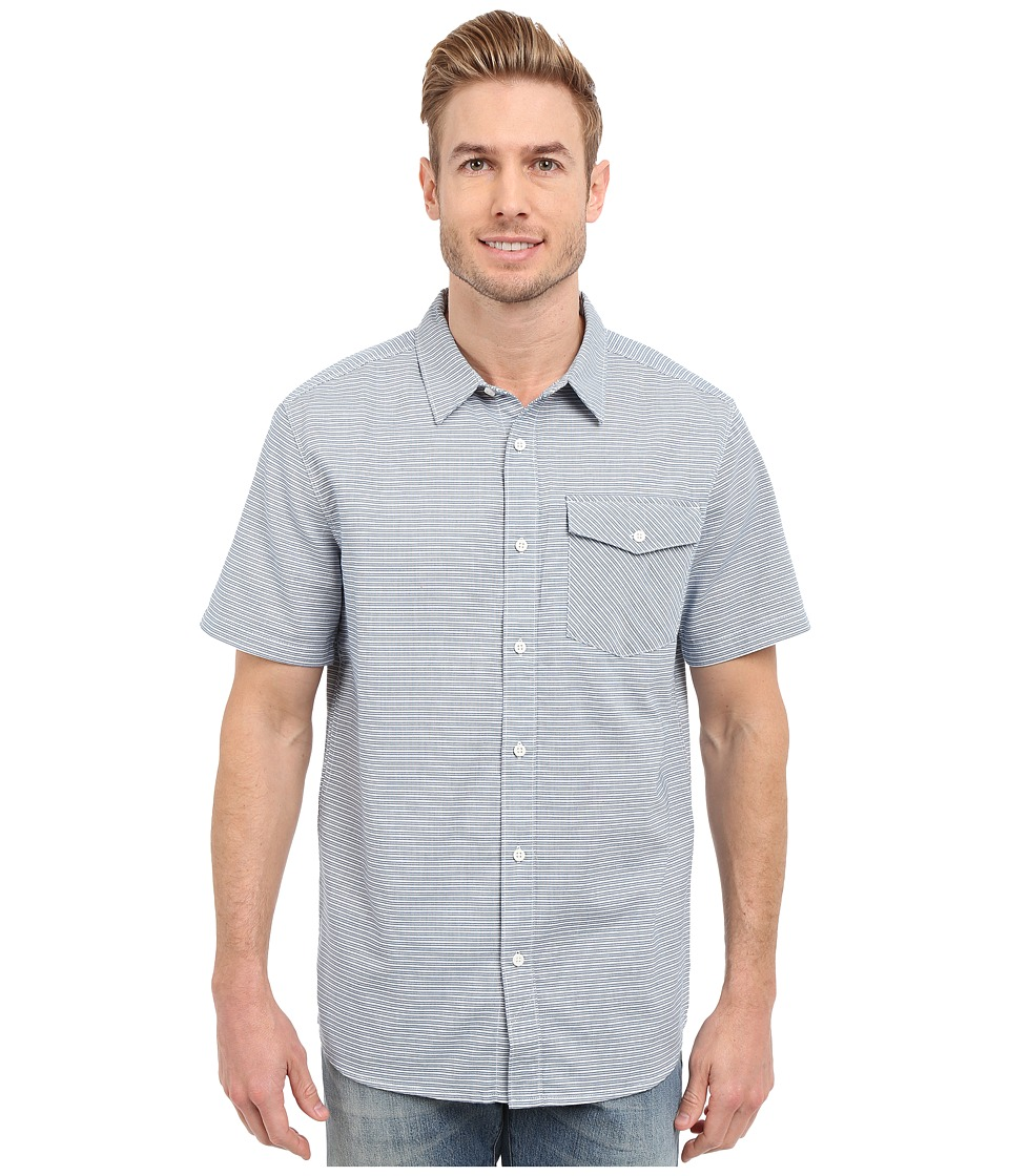 Mountain Hardwear - Drummond S/S Shirt (Phoenix Blue) Men's Short Sleeve Button Up