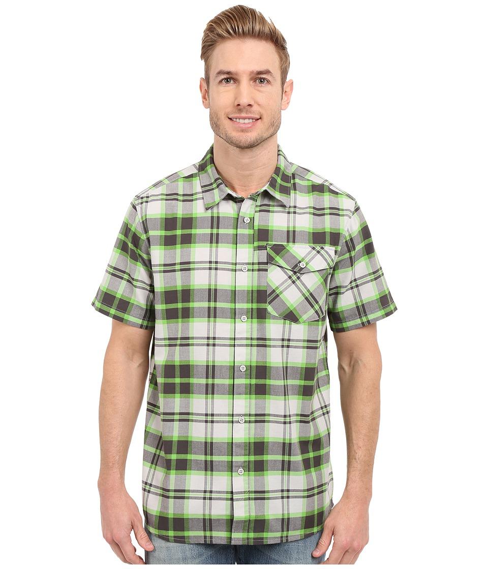Mountain Hardwear - Drummond S/S Shirt (Cyber Green) Men's Short Sleeve Button Up
