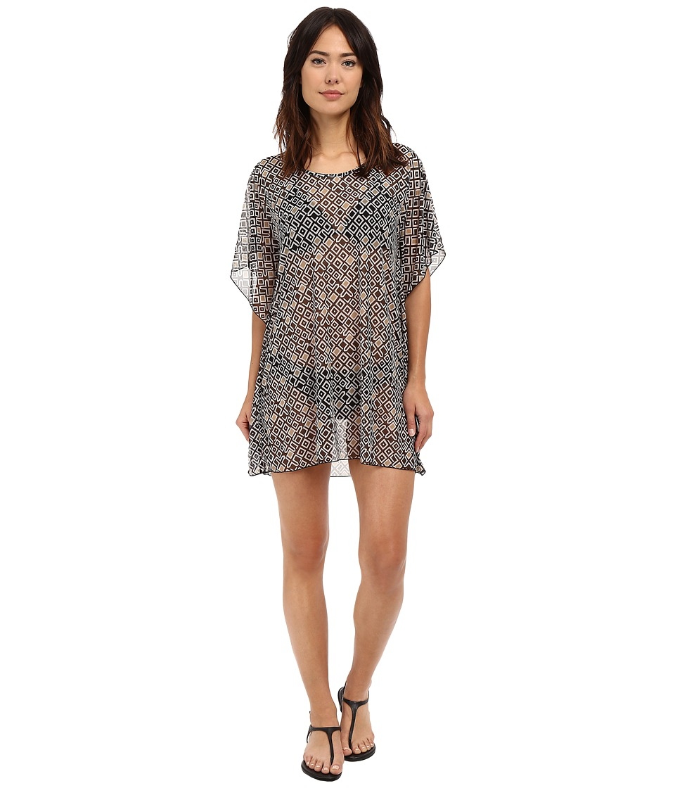 Athena Gold Coast Geo Tunic Cover-up (Black) Women