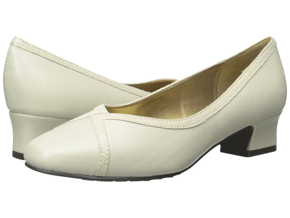 Soft Style - Lanie (Bone Vitello/Lizard) Women's 1-2 inch heel Shoes