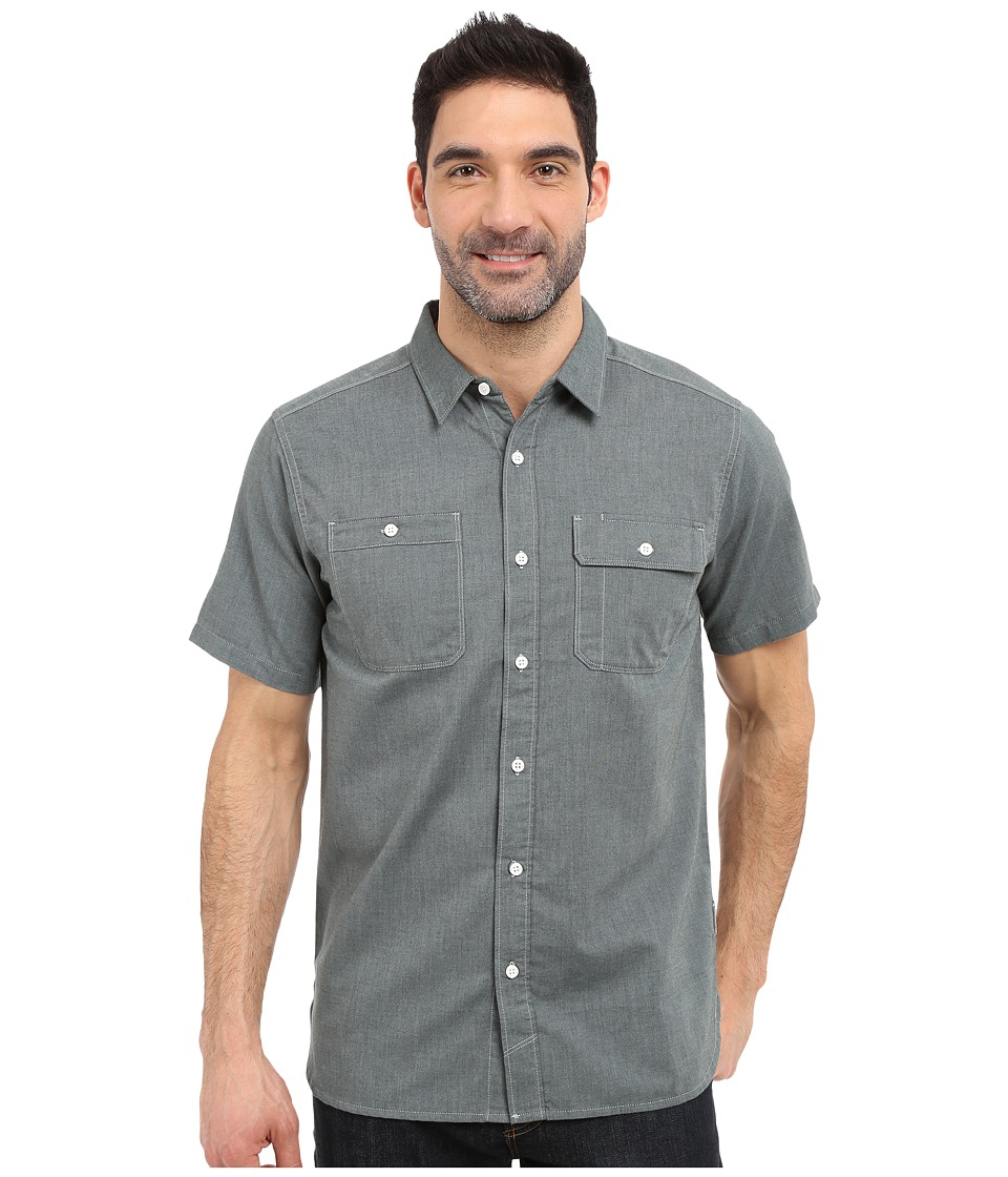 Mountain Hardwear - Drummond Utility S/S Shirt (Ice Shadow) Men's Short Sleeve Button Up