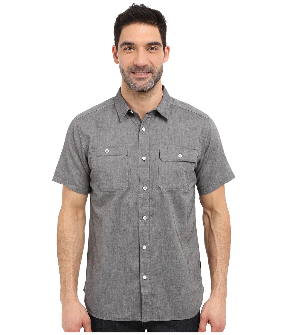 Mountain Hardwear - Drummond Utility S/S Shirt (Black) Men's Short Sleeve Button Up