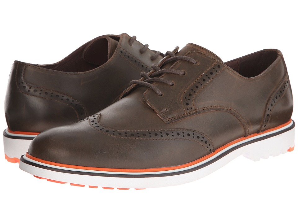 French Connection - Falcon (Dark Brown Polished Calf) Men's Lace up casual Shoes