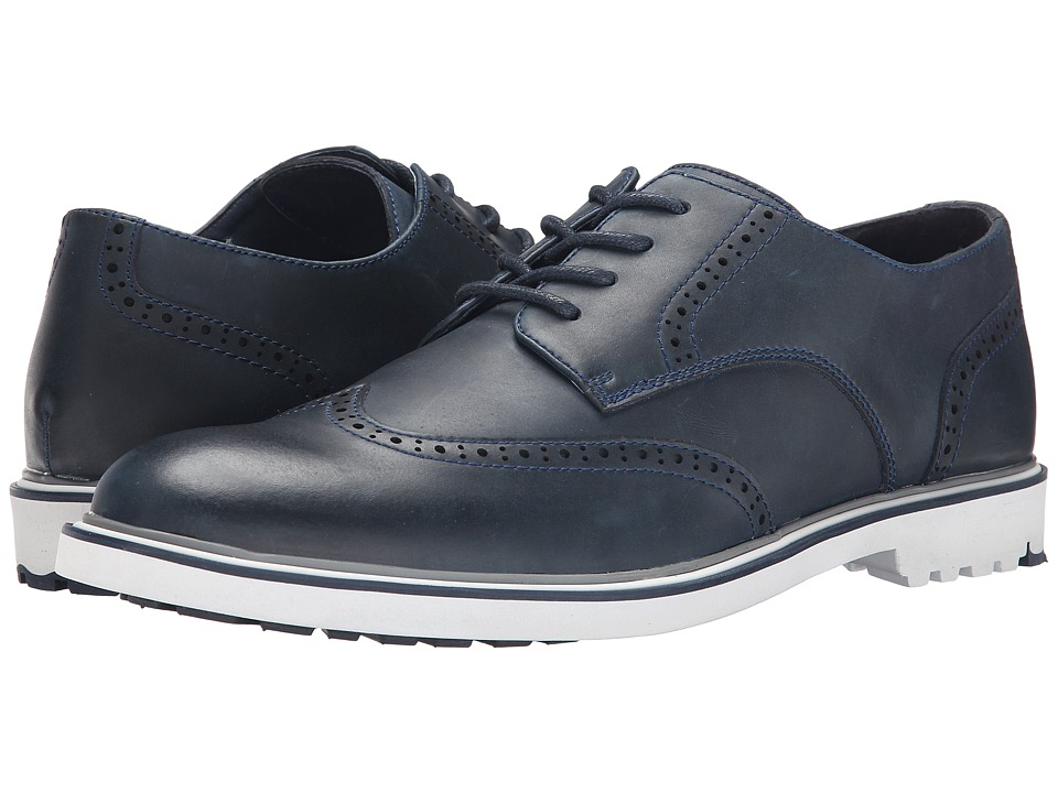 French Connection - Falcon (Navy Polished Calf) Men