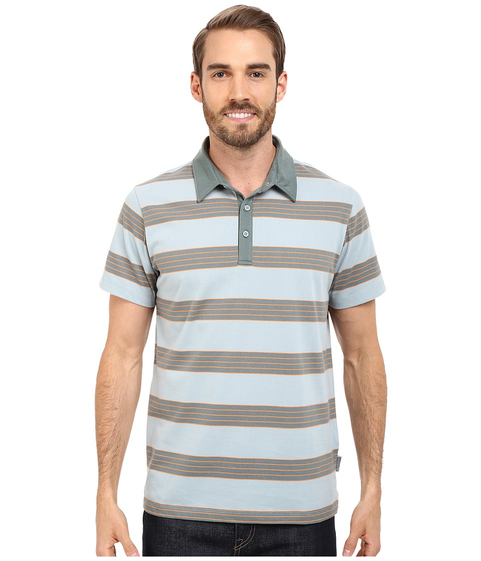 Mountain Hardwear - ADL Striped S/S Polo (Ice Shadow) Men's Clothing