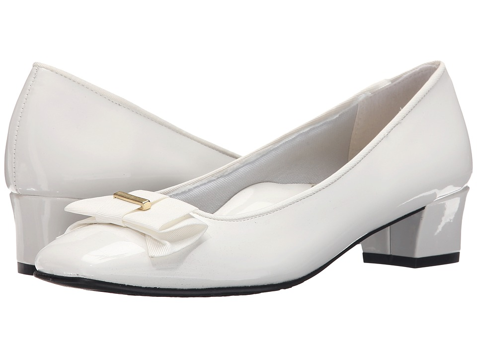 Soft Style - Sharyl (White Patent) Women's 1-2 inch heel Shoes