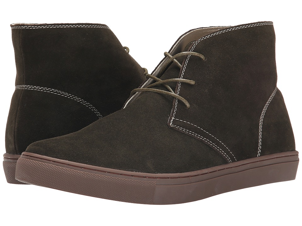 French Connection - Falon (Moss Leather Upper/Rubber) Men's Lace-up Boots