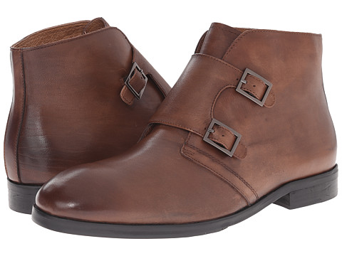 French Connection - Foyer (Cognac Leather) Men's Lace-up Boots