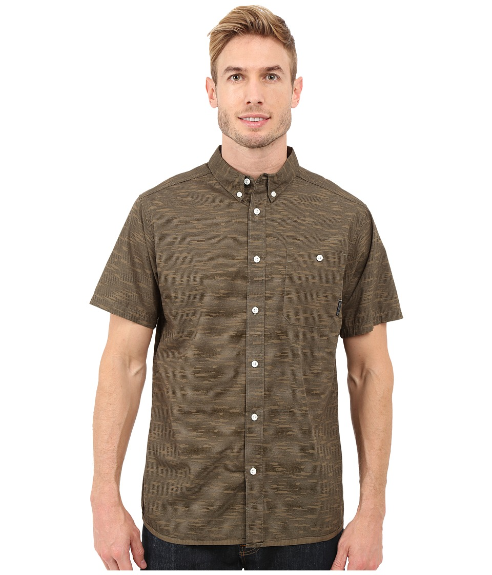 Mountain Hardwear - Mountain Hardwear Camo S/S Shirt (Peatmoss) Men's Short Sleeve Button Up