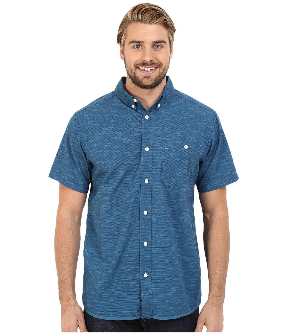 Mountain Hardwear - Mountain Hardwear Camo S/S Shirt (Phoenix Blue) Men's Short Sleeve Button Up
