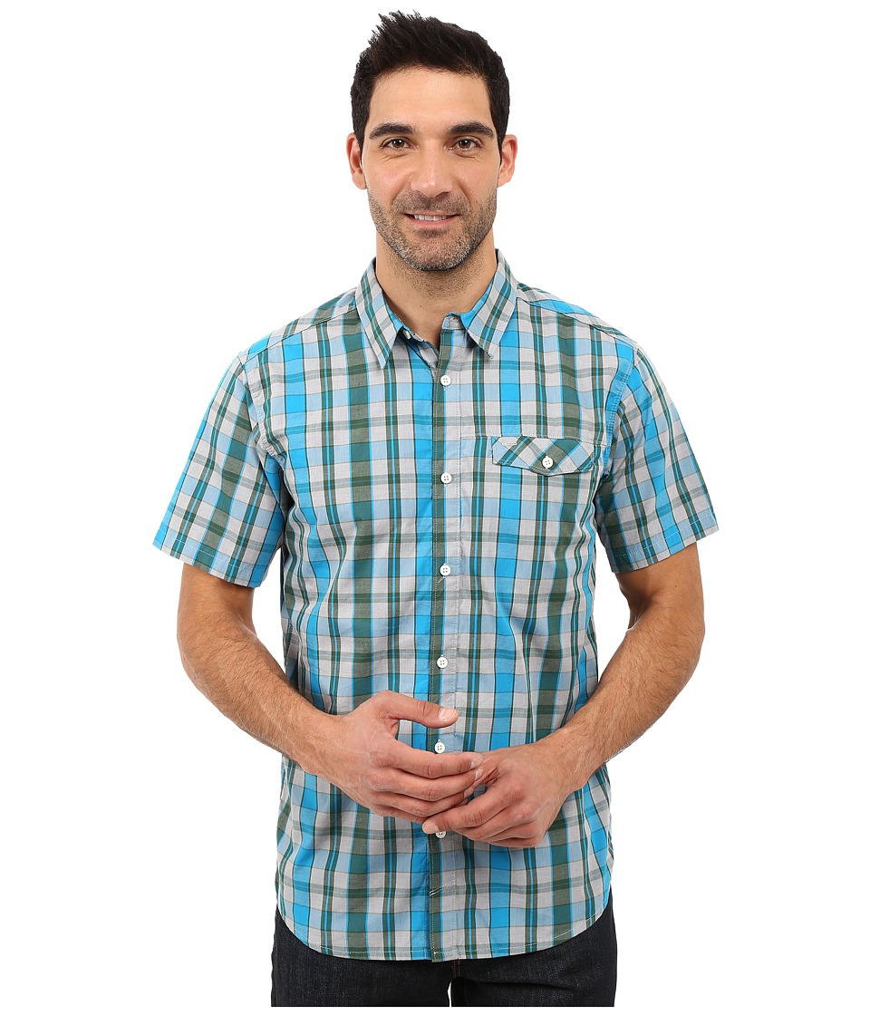 Mountain Hardwear - Stout S/S Shirt (Ocean Blue) Men's Short Sleeve Button Up