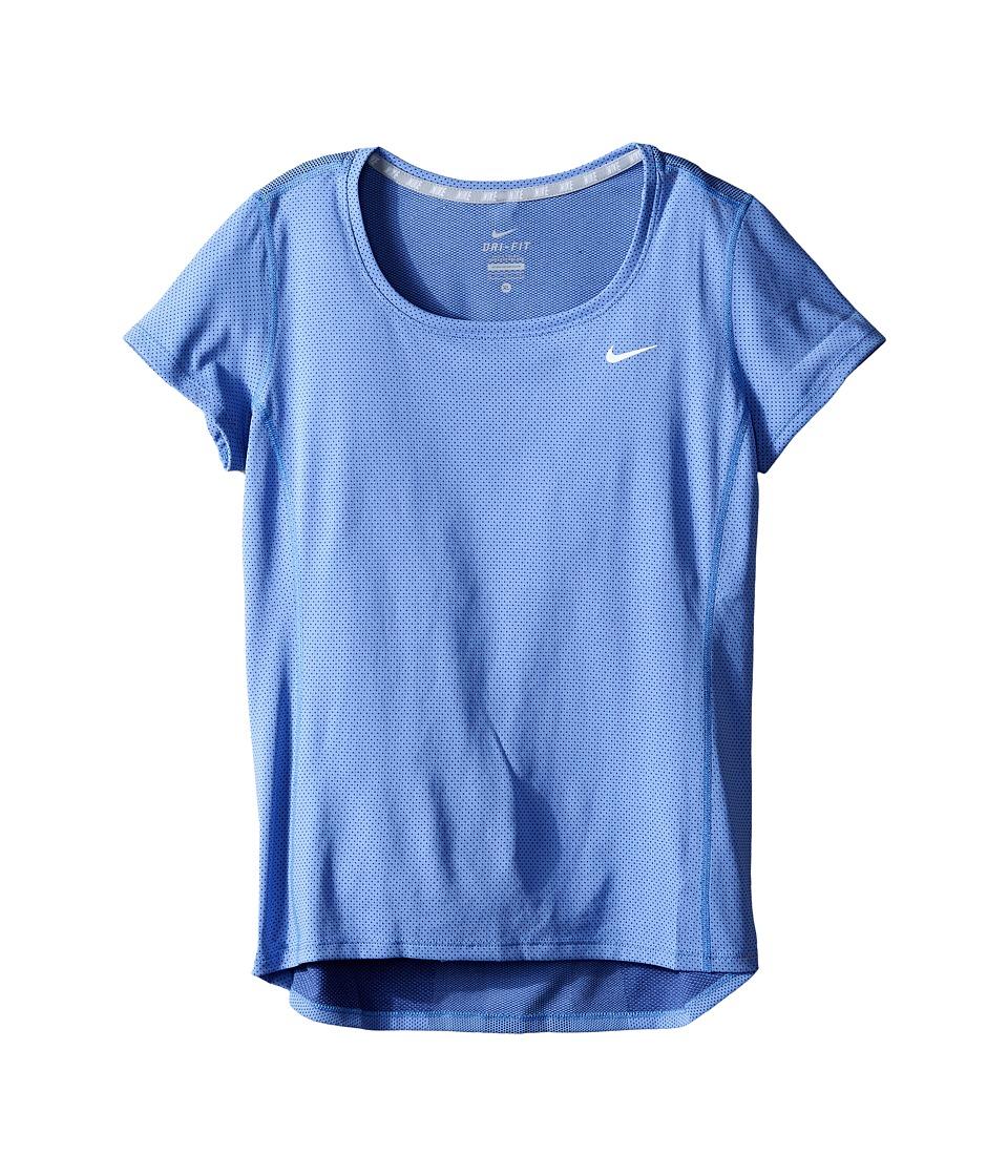 Nike Kids - Contour Running Top (Little Kids/Big Kids) (Chalk Blue/Reflective Silver) Girl's Short Sleeve Pullover