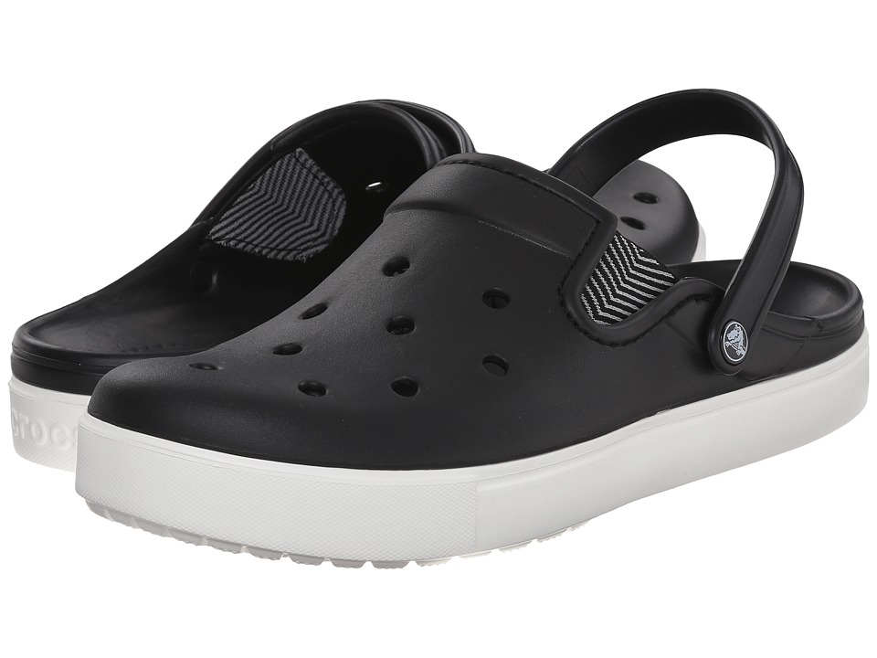 Crocs - CitiLane Flash (Black/White) Clog Shoes