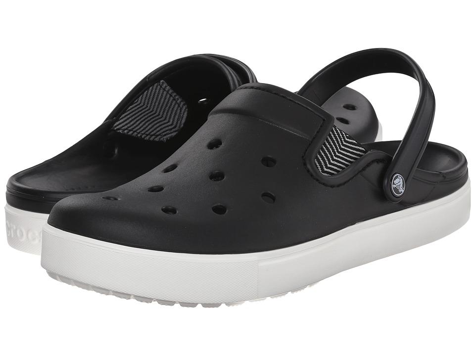 Crocs CitiLane Flash (Black/White) Clog Shoes