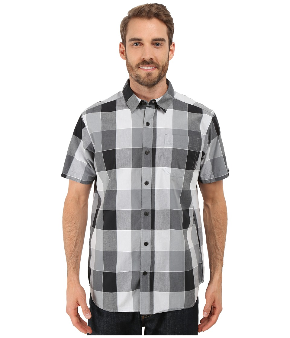 Columbia - Thompson Hill II Yarn Dye Shirt (Black Large Plaid) Men's Short Sleeve Button Up
