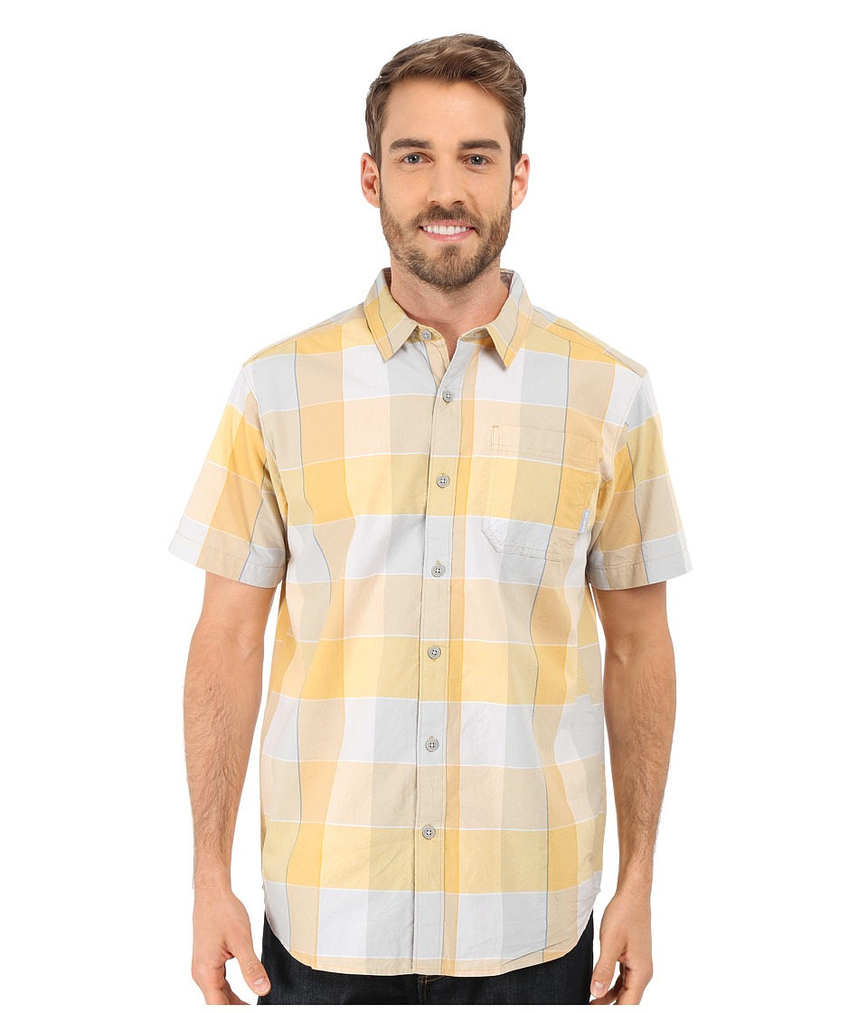 Columbia - Thompson Hill II Yarn Dye Shirt (Lion Large Plaid) Men's Short Sleeve Button Up