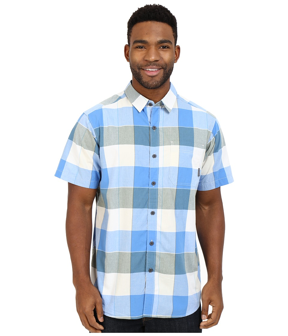 Columbia - Thompson Hill II Yarn Dye Shirt (Blue Sky Large Plaid) Men's Short Sleeve Button Up
