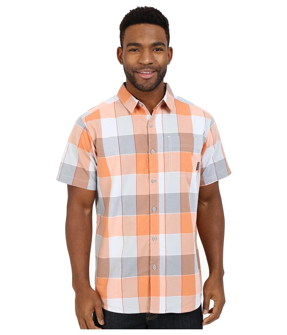 Columbia - Thompson Hill II Yarn Dye Shirt (Cirrus Grey Large Plaid) Men's Short Sleeve Button Up