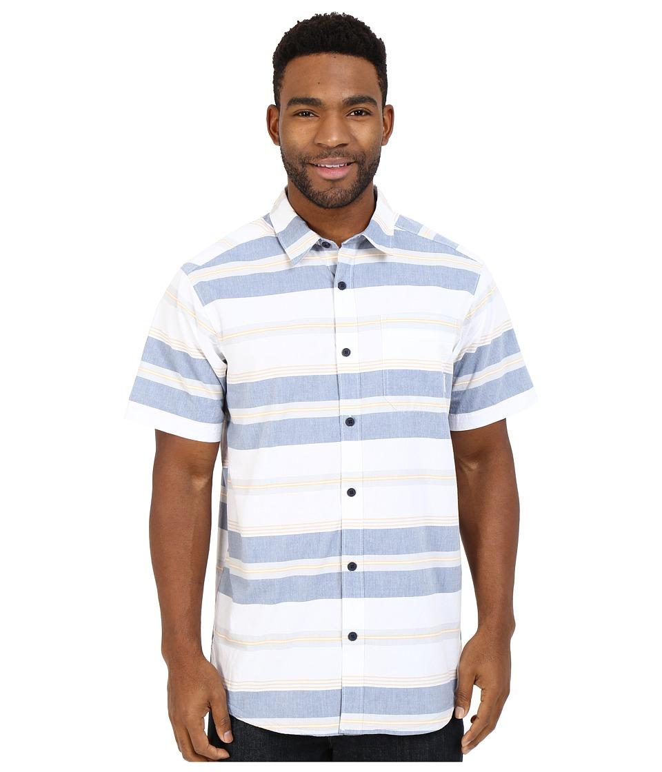 Columbia - Thompson Hill II Yarn Dye Shirt (Night Tide Stripe) Men's Short Sleeve Button Up