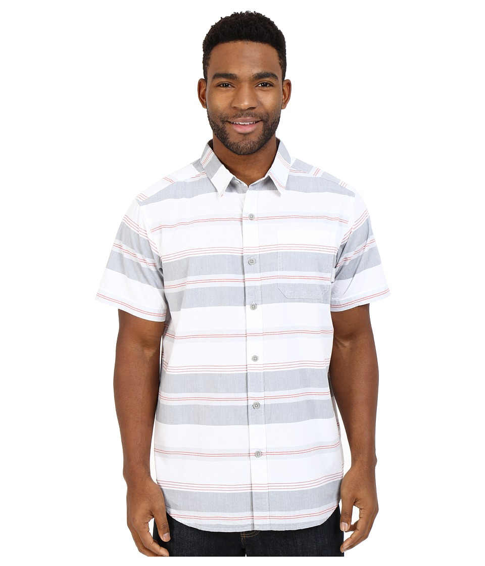Columbia - Thompson Hill II Yarn Dye Shirt (Grey Ash Stripe) Men's Short Sleeve Button Up