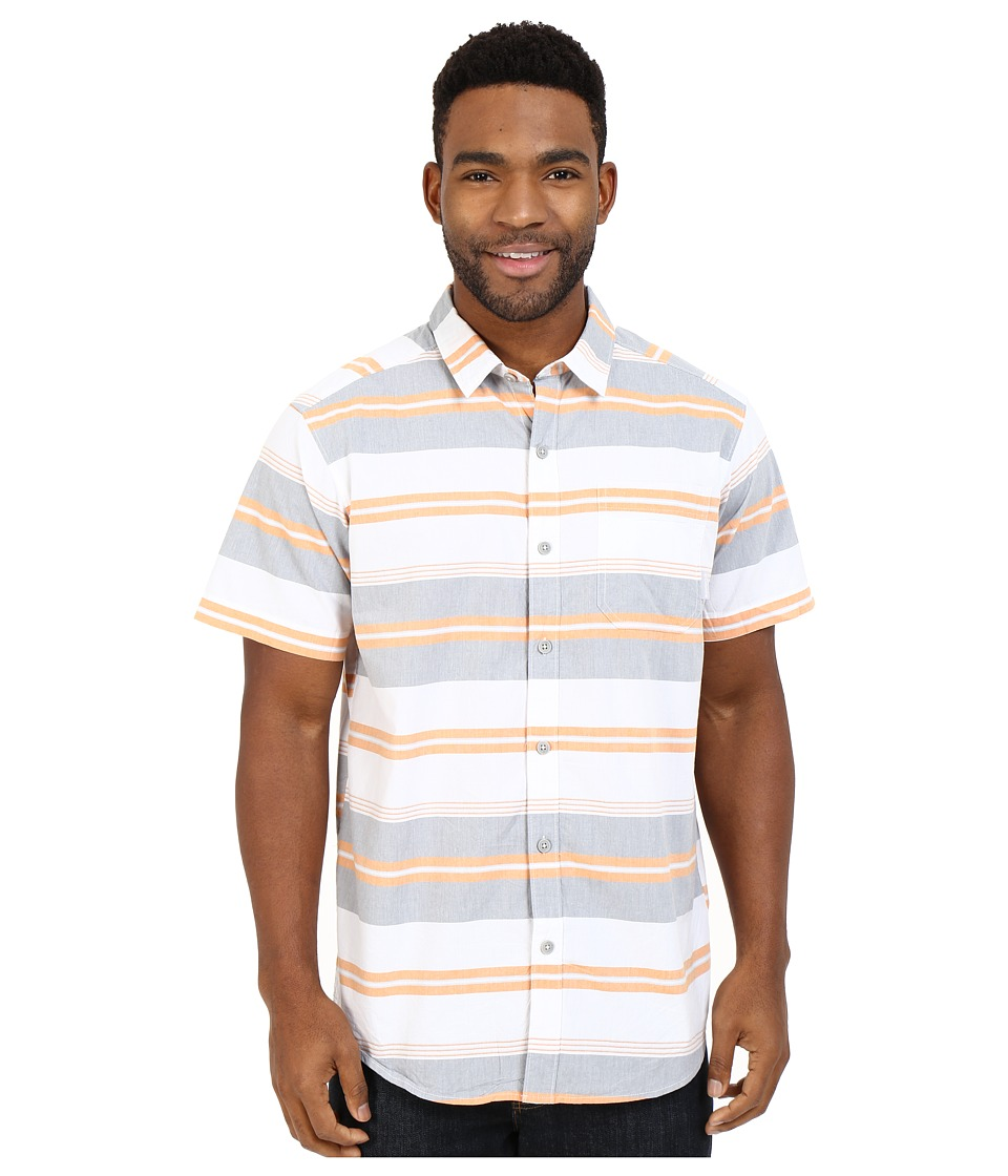Columbia - Thompson Hill II Yarn Dye Shirt (Solar Stripe) Men's Short Sleeve Button Up