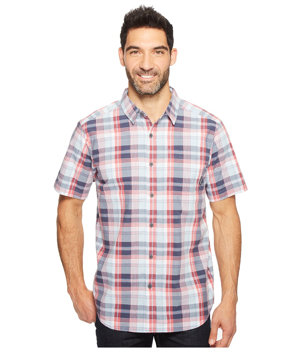 Columbia - Thompson Hill II Yarn Dye Shirt (Sunset Red Small Plaid) Men's Short Sleeve Button Up