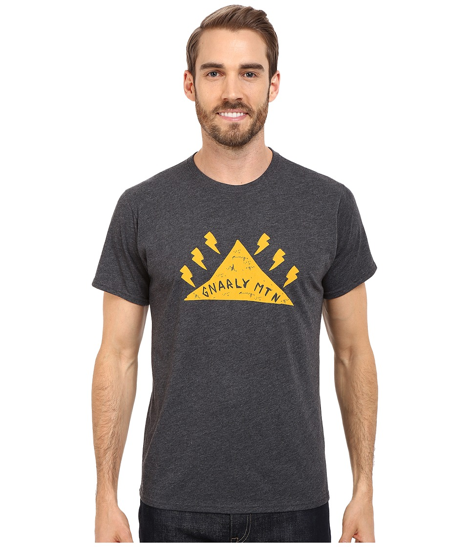 Mountain Hardwear - Gnar Mountain S/S Tee (Heather Black) Men's Short Sleeve Pullover