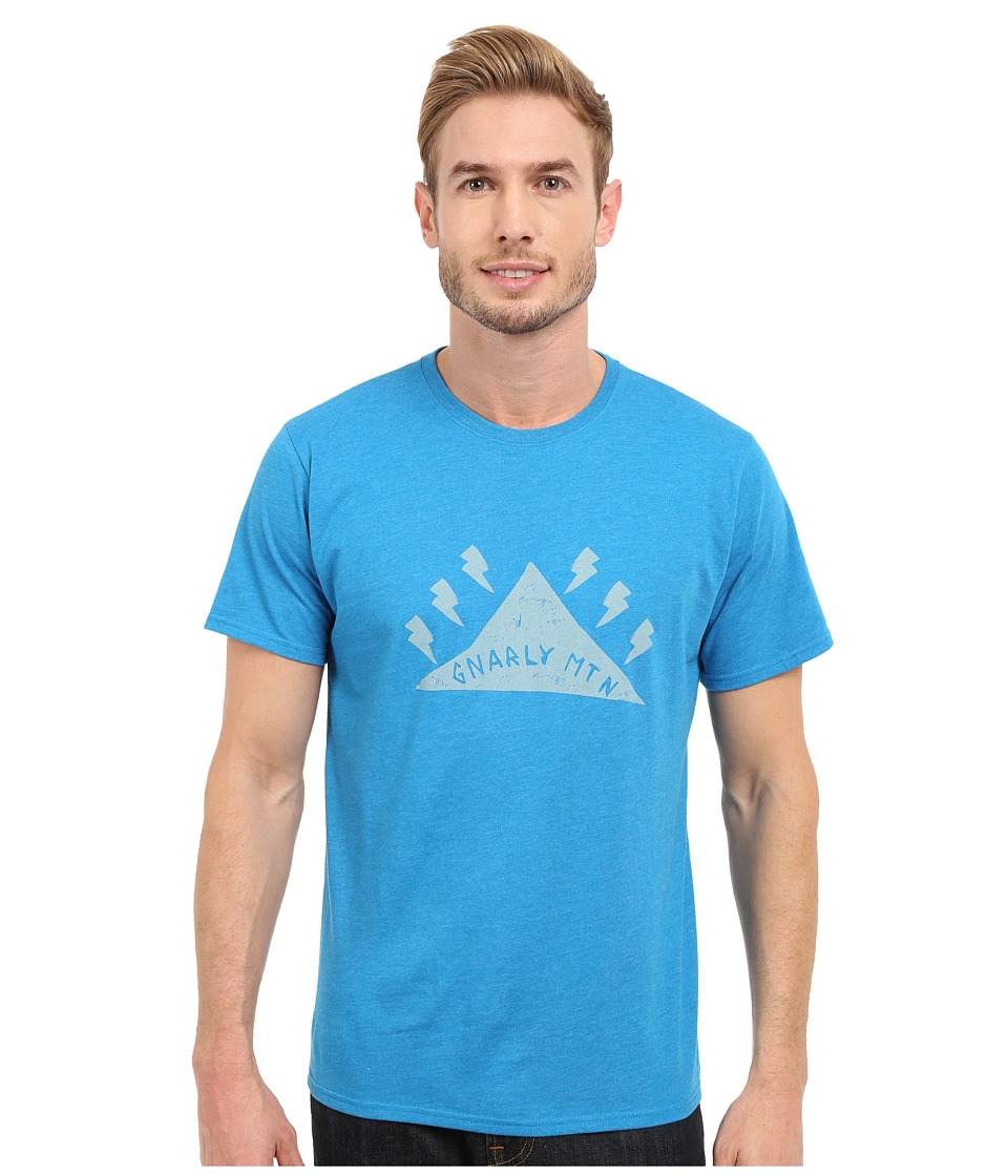 Mountain Hardwear - Gnar Mountain S/S Tee (Heather Dark Compass) Men's Short Sleeve Pullover