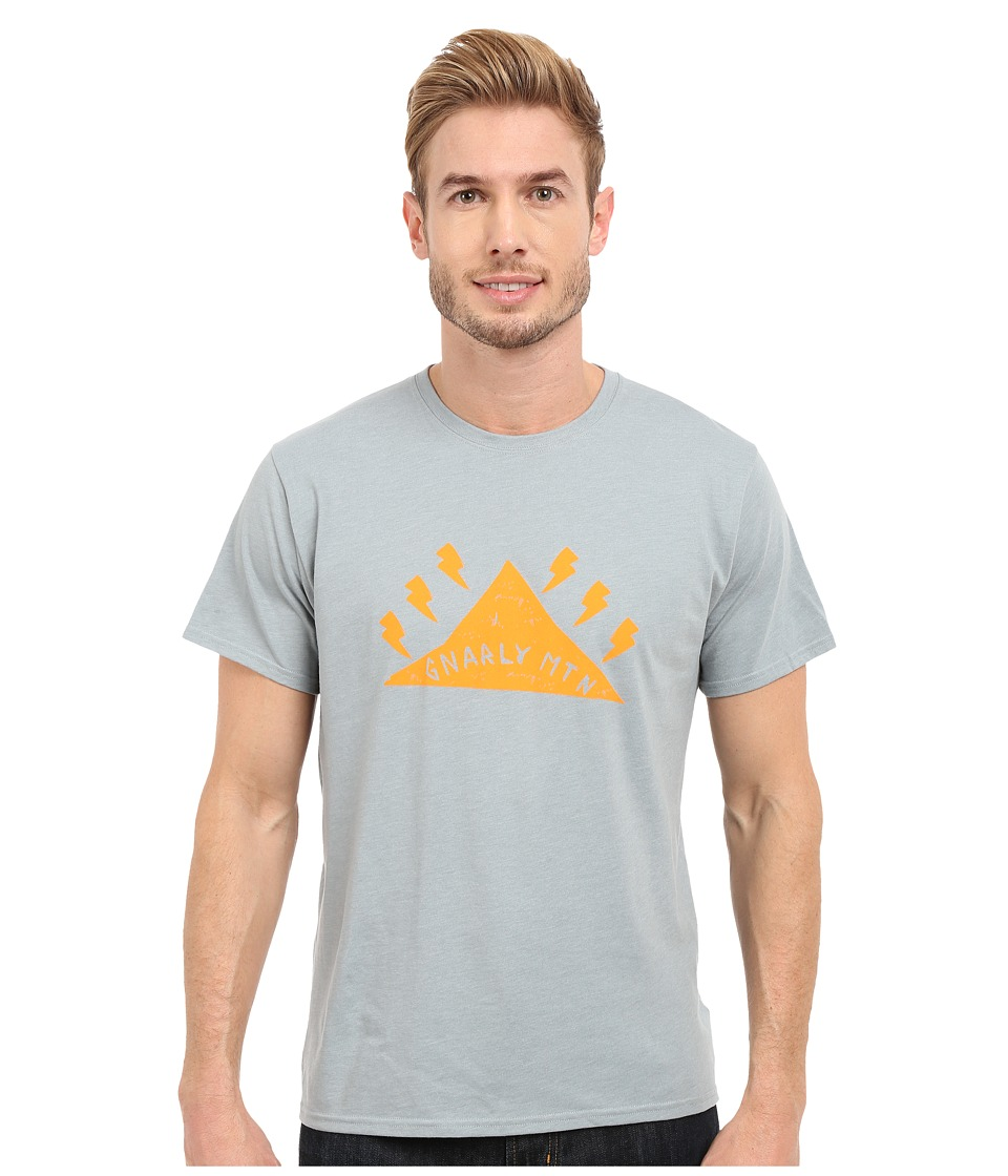 Mountain Hardwear - Gnar Mountain S/S Tee (Heather Ice Shadow) Men's Short Sleeve Pullover