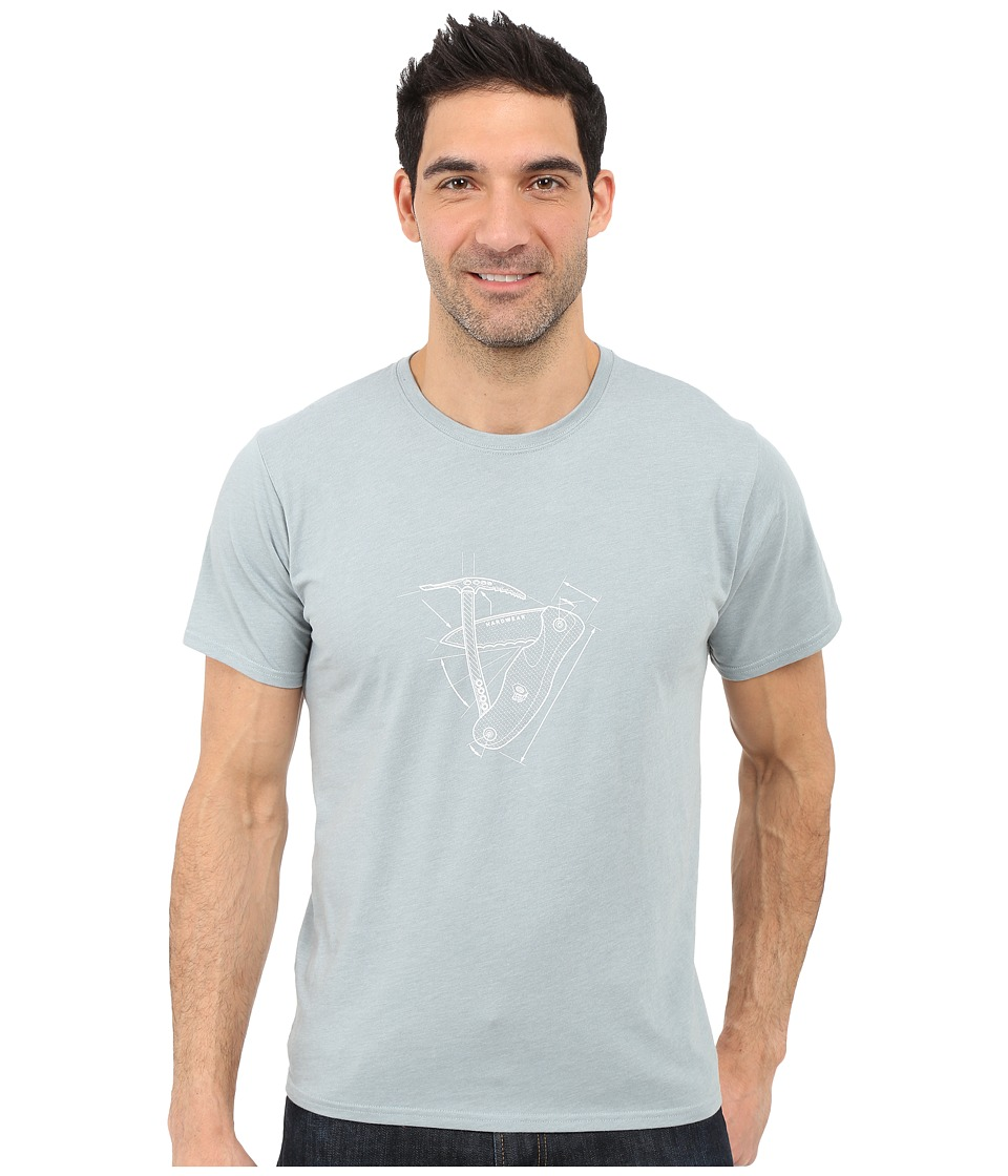 Mountain Hardwear - Multi Tool S/S Tee (Heather Ice Shadow) Men's Short Sleeve Pullover