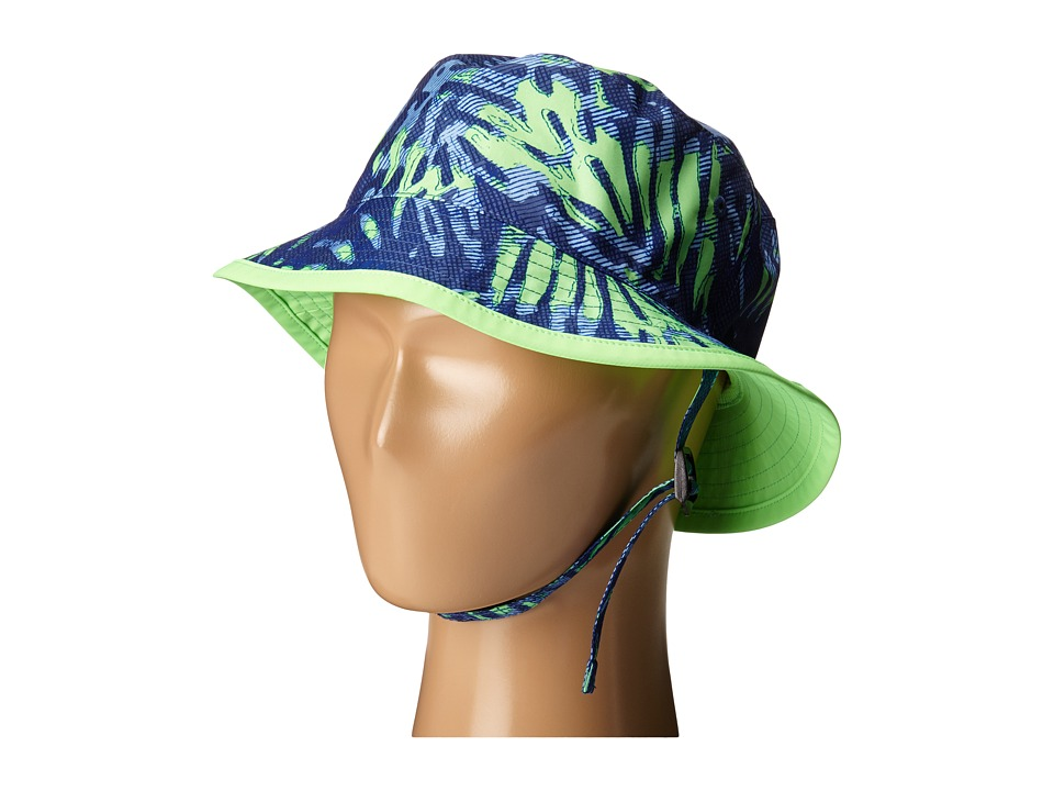 The North Face Kids - Youth Zipline Hat (Marker Blue Palm Print) Bucket Caps