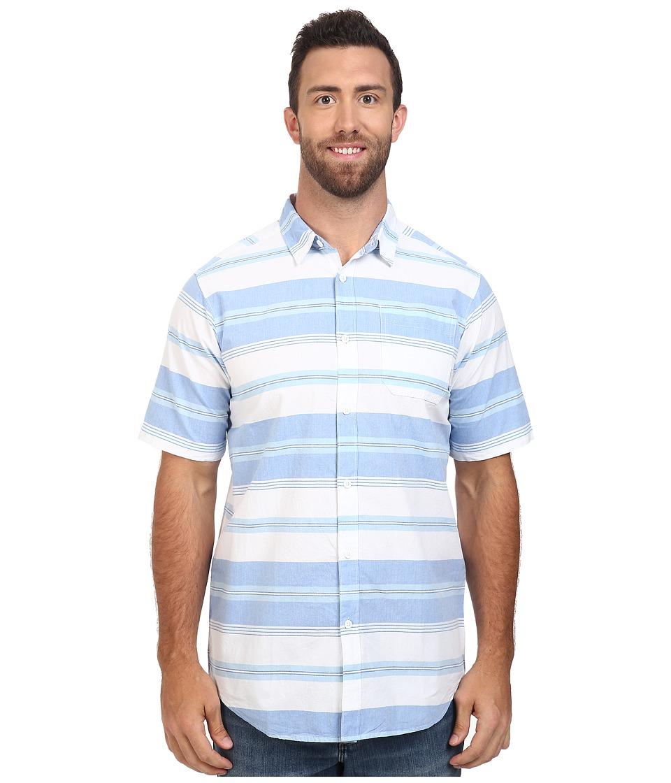Columbia - Big Tall Thompson Hill II Yarn Dye Shirt (Super Blue Stripe) Men's Short Sleeve Button Up