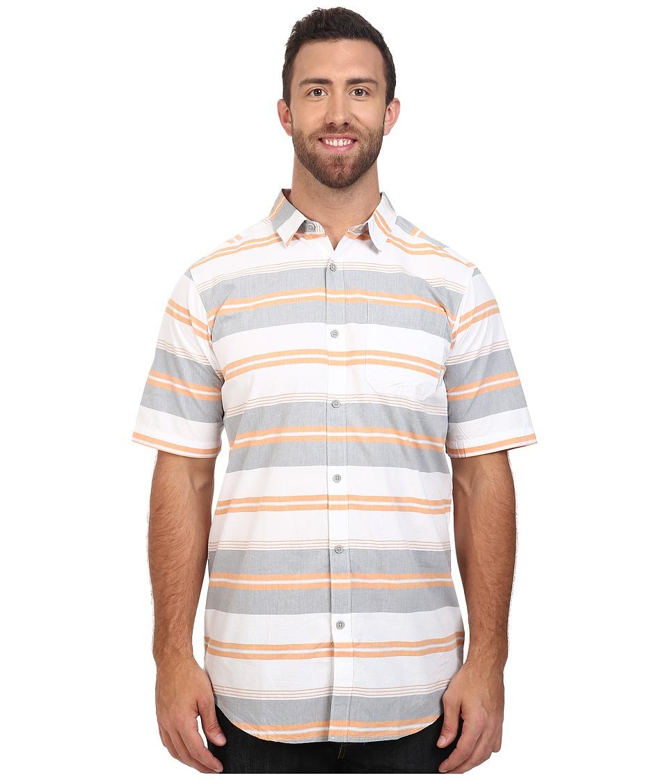 Columbia - Big Tall Thompson Hill II Yarn Dye Shirt (Solar Stripe) Men's Short Sleeve Button Up