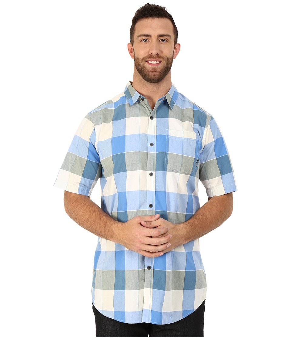 Columbia - Big Tall Thompson Hill II Yarn Dye Shirt (Blue Sky Large Plaid) Men's Short Sleeve Button Up