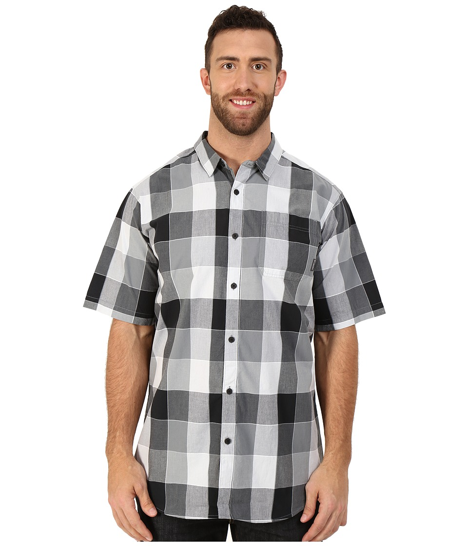 Columbia - Big Tall Thompson Hill II Yarn Dye Shirt (Black Large Plaid) Men's Short Sleeve Button Up