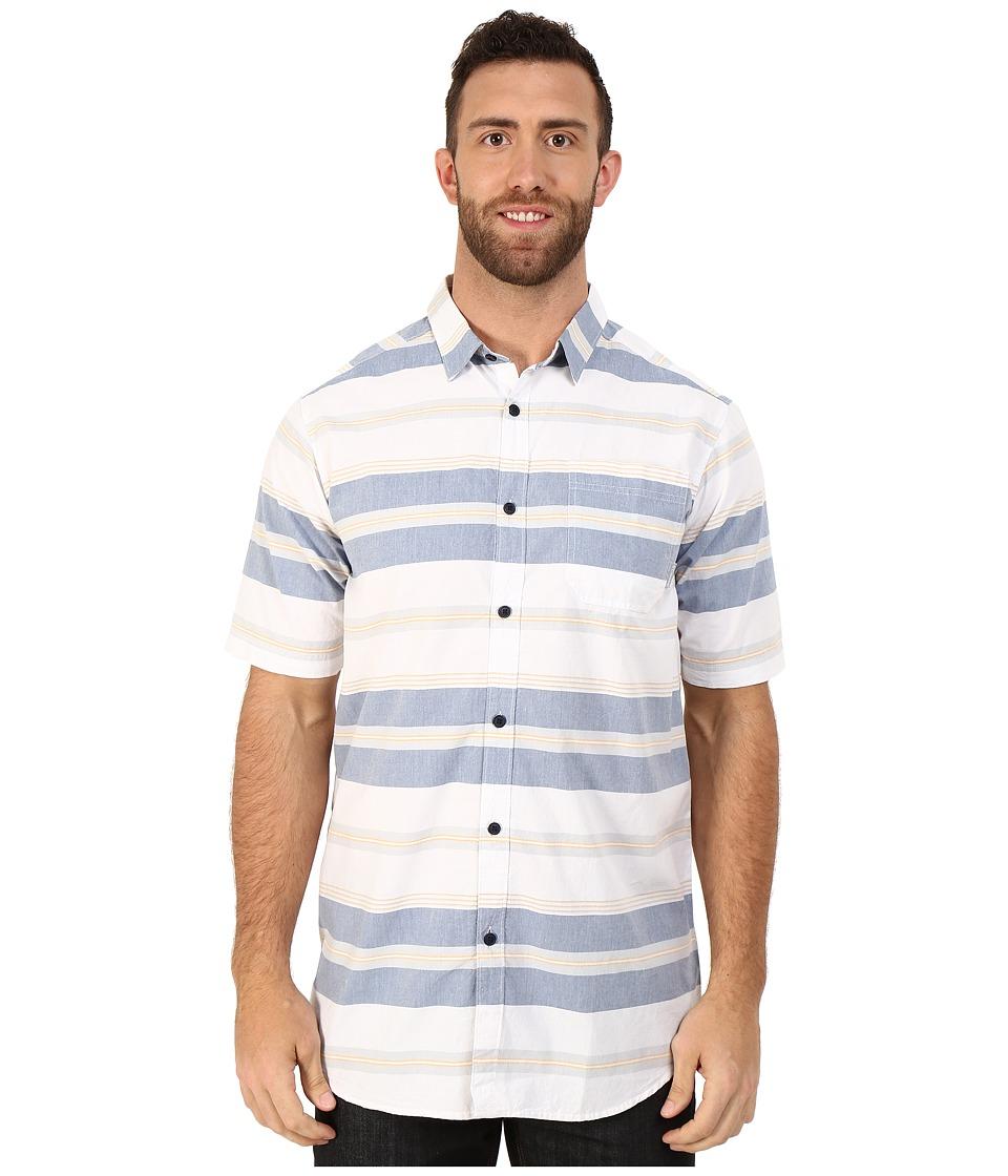 Columbia - Big Tall Thompson Hill II Yarn Dye Shirt (Night Tide Stripe) Men's Short Sleeve Button Up