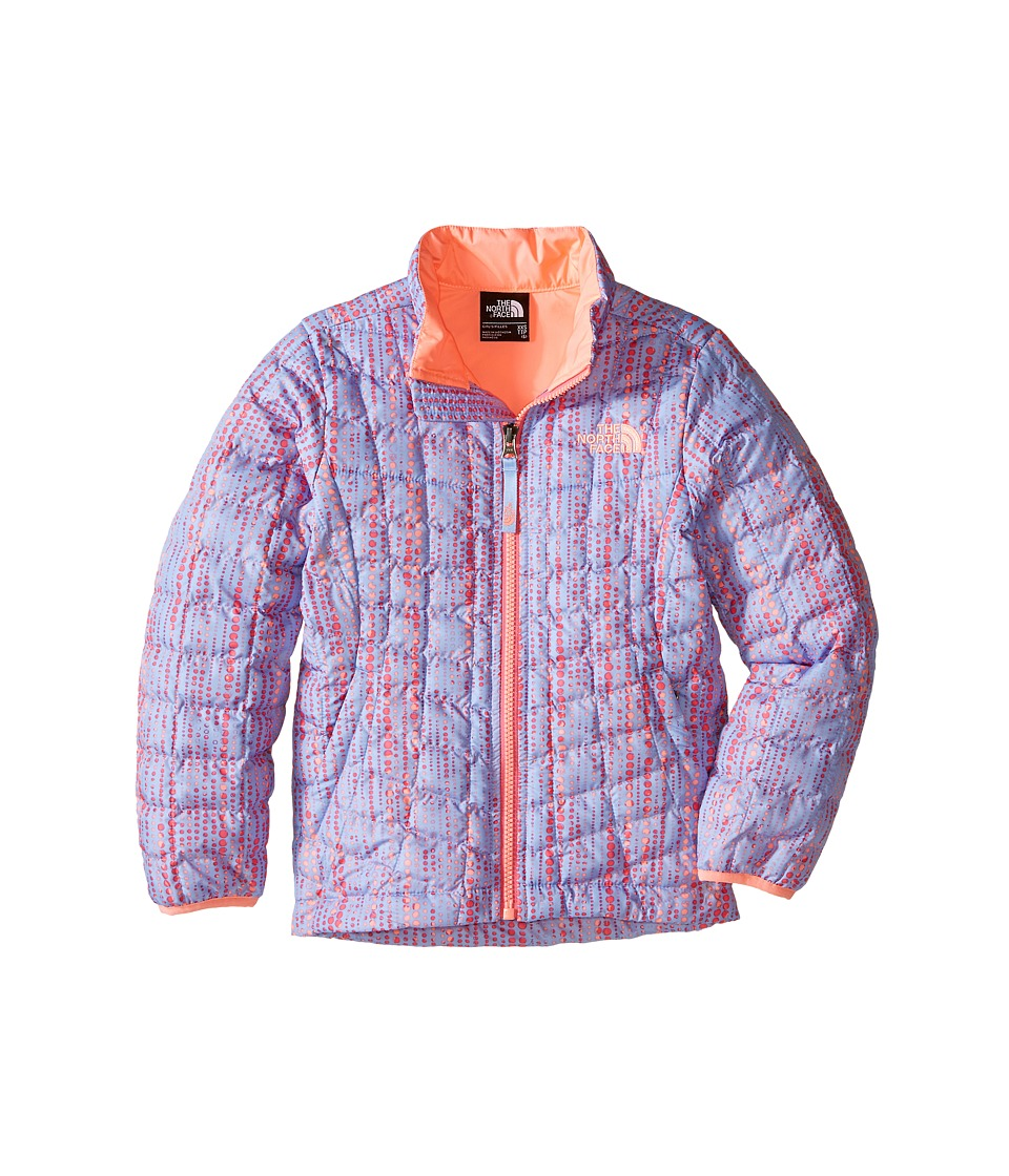The North Face Kids - Thermoball Full Zip Jacket (Little Kids/Big Kids) (Collar Blue Raindrop Print) Girl's Coat
