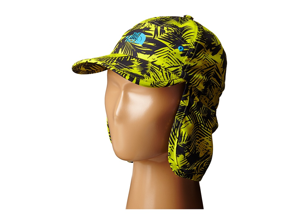 The North Face Kids - Youth Party In The Back Hat (Sulphur Spring Green Palm Print) Caps