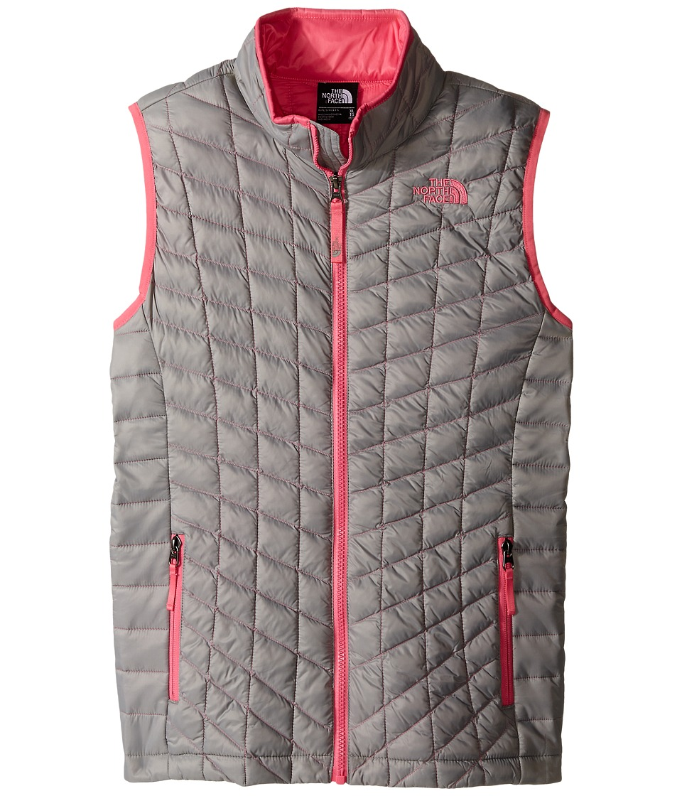 The North Face Kids - ThermoBall Vest (Little Kids/Big Kids) (Metallic Silver) Girl's Vest